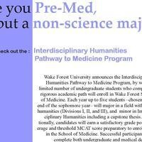 Interdisciplinary Humanities Pathway to Medicine Program, Information Session