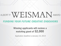 Weisman Award Info Session