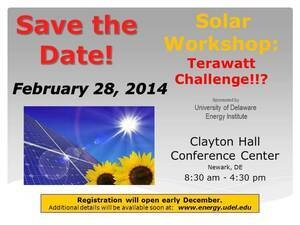 Solar Workshop:  Terawatt Challenge!?