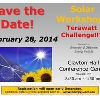 Solar Workshop:  Terawatt Challenge!?