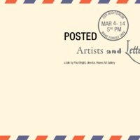 Posted: Artists and Letters - talk by Paul Bright