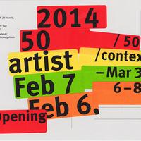 50/50 : artist/context opening reception