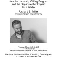 Habits of the Creative Mind - A Talk by Professor Richard E. Miller