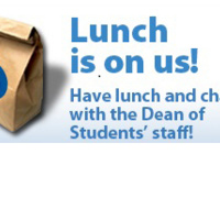 Lunch with the Dean of Students' Staff!