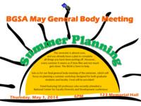 BGSA General Body Meeting: Summer Planning Workshop