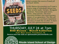 """Open sesame the story of seeds"" documentary screening"