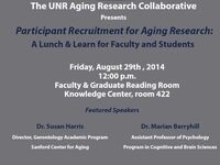 Participant Recruitment for Aging Research: A Lunch & Learn for Faculty and Students