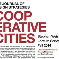 Stephan Weiss Lecture Series: Cooperative Cities