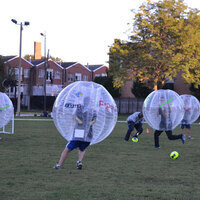 Phi Kappa Sigma Rush-Bubble Suit Soccer Game event