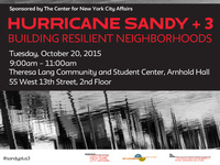 Hurricane Sandy +3: Building Resilient Neighborhoods