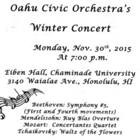 Oahu Civic Orchestra (Chaminade's Orchestra!) Winter Concert