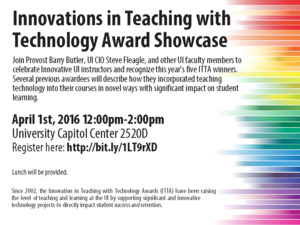 Innovations in Teaching with Technology Award Showcase