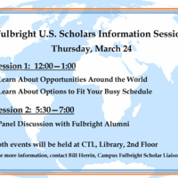 Fulbright Information Session for Faculty