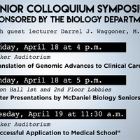 Biology Senior Colloquium Symposium: Poster Presentations