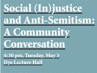 Social (In)justice and Anti-Semitism: A Community Conversation
