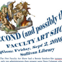 Second Faculty Art Show Reception