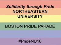 Boston LGBTQA Pride Parade - March with Northeastern University