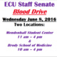 ECU Staff Senate Blood Drive