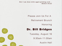 Retirement Brunch for Dr. Bill Bridges