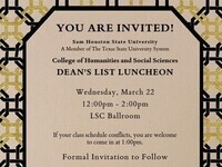 CHSS Dean's List Luncheon