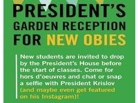 President's Garden Reception for New Obies