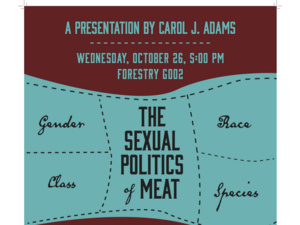 Carol Adams'  'The Sexual Politics of Meat' Lecture and Slideshow