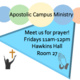 -Cancelled-Apostolic Campus Ministry Prayer