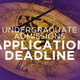 Second Degree application deadline for the Fall 2017 term