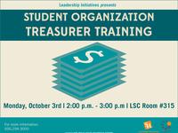 Student Organization Treasurer Training