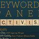 Annual CAST Keywords Panel