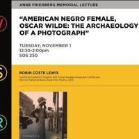 American Negro Female, Oscar Wilde: The Archaeology of a Photograph
