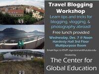 Travel Blogging Workshop