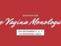 Vagina Monologues Auditions!