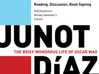 Junot Díaz: Reading, Discussion and Book Signing