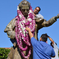 Founders' Week:  Lei Making and Ceremony