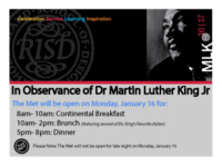 The Met Celebrates Dr. Martin Luther King Jr.