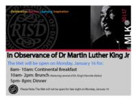 The Met Celebrates Dr. Martin Luther King Jr.