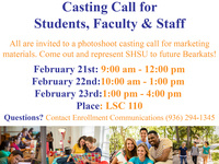 Casting Call for Students, Faculty & Staff