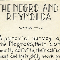 "Object of the Month: ""The Negro and Reynolda"""
