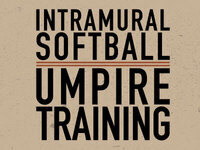 Softball Umpire Training
