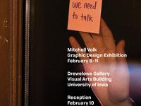 Mitchell Volk MA student in Graphic Design