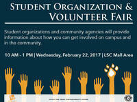 Volunteer Opportunities & Student Organizations Fair