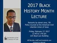 2017 Black History Month Lecture