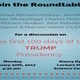 Roundtable discussion: The First 100 Days of the Trump Administration