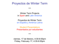 Winter Term Project Presentations