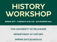 Spring 2017 History Workshop