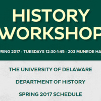 Spring 2017 History Workshop