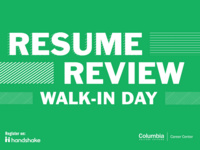 Resume Review Walk-in Day