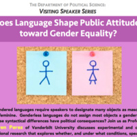Does Language Shape Public Attitudes toward Gender Equality?