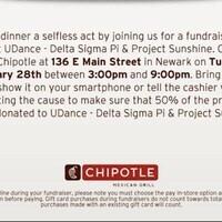 Chipotle Fundraiser!